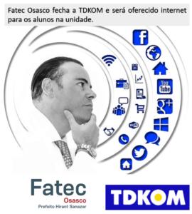 TDKOM oferece internet para os alunos da Fatec